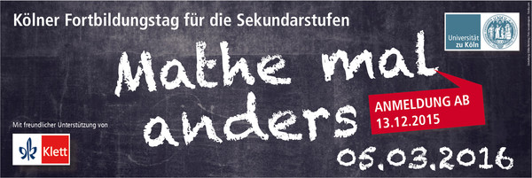 "Banner ""Mathe mal anders"""
